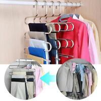 Edelstahl Hosen Hosen Kleiderbügel Kleidung Magic Rack Closet Holder Organizer