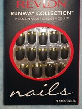 2x Revlon Press On False Nails silver & gold
