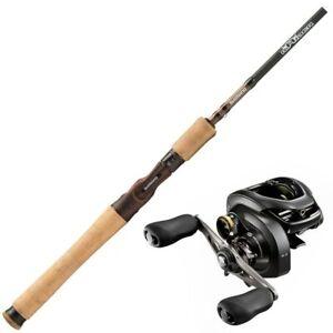 Baitcaster fishing combo - Shimano Raider Barra Mauler 2pc rod with Curado 7....