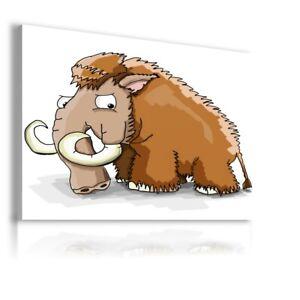 DRAWING MAMMOTH ANIMAL PRINT CANVAS KIDS WALL ART WS264 MATAGA UNFRAMED-ROLLED
