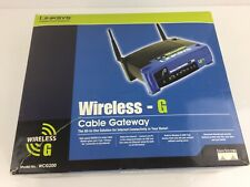 Linksys Wireless-G Cable Gateway Modem Router Model # WCG200