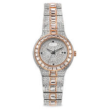 Croton Women's CN207540TTPV Balliamo Two Tone Crystal Watch