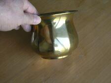 "Vintage Solid Brass Planter Vase Handmade 10 Sided Turned Lip 5"" X4"""