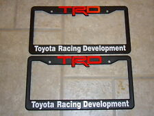 TRD LICENSE PLATE FRAMES (RED AND WHITE LETTERING)