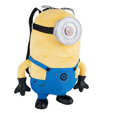 Despicable Me 2 Plush Soft Stuffed Minion Stuart 15 inch Backpack