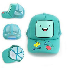 Adventure Time Deluxe BEEMO BMO Anime Cyan Baseball Cap Hat Hot Sell