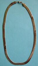 Collana unisex maglia snake argentata -  bigiotteria