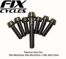 Hope Titanium Stem and Headset Bolts 4 M5 x 18 mm + 2 M5 x 15 mm + 1 M6 x 35 mm
