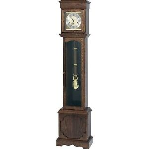 Granddaughter Clock Brass Dial with Hermle Key Wound Westminster Chime Movement
