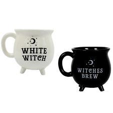 Witches Brew Cauldron Coffee Tea Mug Cup Black White Witch Moon Stars 450ml NEW