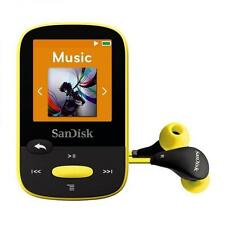 SanDisk Clip Sport 4GB Yellow MP3 Player With LCD Screen and MicroSDHC Card Slot