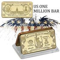 WR $1 Million US Dollar Gold  Bullion Bar Commemorative Ingot Big Value Novelty