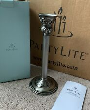 New ListingPartylite Classic Creations Satin Silver Taper Holder 10.5� Nib P8951 Free Ship