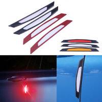 4x White Universal Car Wheel Rim Reflective Warning Strip Sticker Safety Light