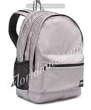 New Victoria's Secret Pink Campus Backpack Black Light Heather Grey Gray NWT