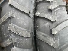 TWO 13.6X28,13.6-28 FORD 8 Ply R 1 Bar Lug Tractor Tires w/Tubes 4 yr warranty