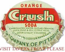 Unused 1950s Orange Crush Soda Cork Crown Pittsburgh Pennsylvania