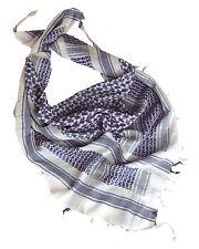 blanc bleu tactique Arabe Shemagh écharpe 100% coton