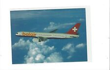 Balair airlines Switzerland issued 757-200 (orange letter) cont/l postcard