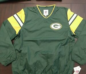 Green Bay Packers Classic Pullover Windbreaker Jacket (Size XL) NEW