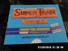 Super Team Games (NES Nintendo) Instruction Manual Only. NO GAME