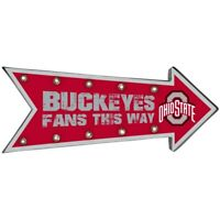 Ohio State Buckeyes Sign Marquee Style Light Up Arrow Design