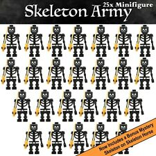 25x Minifigure Skeleton Army with Swords - Custom Blocks fit Hobbit Nexo lego