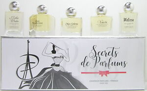 Charrier Secrets de Parfums EDP / Eau de Parfum Miniatur Set 5 Flakons