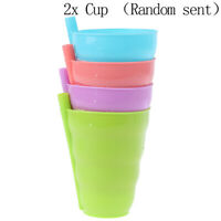 2 x Children Sip a Cup Tumblers with Built in Straw Plastic Sippy Cup O1B Jf