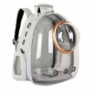 Dog Backpack Carrier Front Chest With Transparent Window Breathable Travel Bags