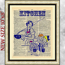 ART PRINT DICTIONARY ANTIQUE BOOK PAGE kitchen retro ORIGINAL GIFT VINTAGE