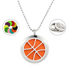 Diffuser Locket Pendant Necklace 25mm Stainless Steel basketball Aromatherapy