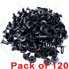 120 X 8mm Car Hole Plastic Rivets Fastener Fender Bumper Push Pin Clips Clip