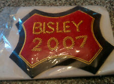 Embroidered cloth Bisley badge dated 2007