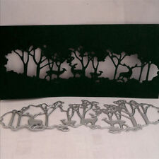 1PC Christmas Forest Deer Metal Cutting Dies Stencil DIY Embossing Craft