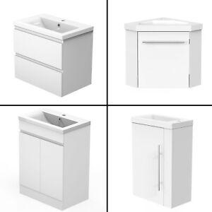 Badmöbel 40/45/50/60cm Weiß mit Unterschrank Waschtisch Badezimmer Möbel. Schub.