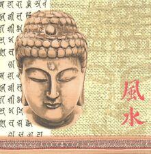 2 Serviettes en papier Asie Bouddha Decoupage Paper Napkins Hapyness Buddha