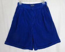 Vintage 80's Esprit Sport Electric Blue High Waist Corduroy Shorts ~ Size 9/10