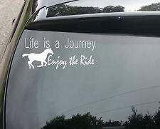 Life's a Journey Horse Ride Car/Window JDM VW EURO DUB DRIFT Vinyl Decal Sticker