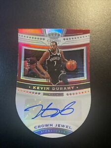 2020-21 Crown Royale Kevin Durant Crown Jewel Signatures Auto 47/49