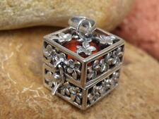HARMONY/CHIME BALL/ANGEL CALLER HANDCRAFTED 925 SILVER PENDANT ORANGE