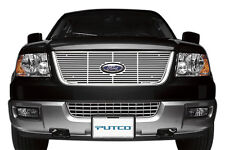 Putco 91135 Grille Insert; Overlay; Polished Aluminum; 2003-2006 Ford Expedition