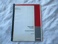 CASEIH Farmall A AV  tractor operator's manual