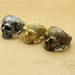 Pure copper popular European and American style skull series finger ring EDC