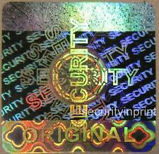 49x SECURITY ORIGINAL Hologram Holographic stickers labels seals 20X20mm S20-3S