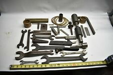 Vintage Lot Of Metal Amp Wood Lathe Parts Mandrels Wrenches Brass Bits Tips Usa