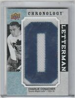 2018-19 UD CHRONOLOGY CHARLIE CONACHER LETTERMAN PATCH TORONTO MAPLE LEAFS **/35