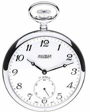 Sterling Silver Pocket Watch Open Faced - 17 Jewel Mechanical Movement - Luxury