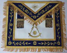 Masonic Apron-Embroidered Past Master Apron Royal Blue