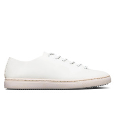 Clae One Piece Leather Trainer in White RRP£120